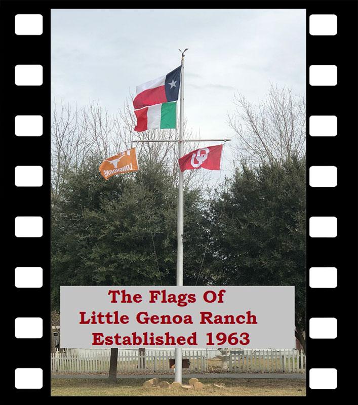 Flags of Little Genoa Ranch