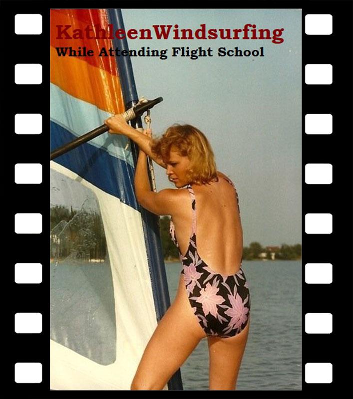 Kathleen Windsurfing